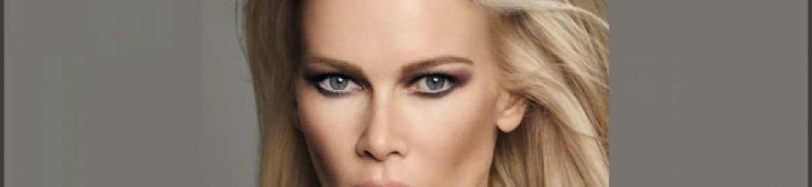 Claudia Schiffer Make up e si inizia a brillare